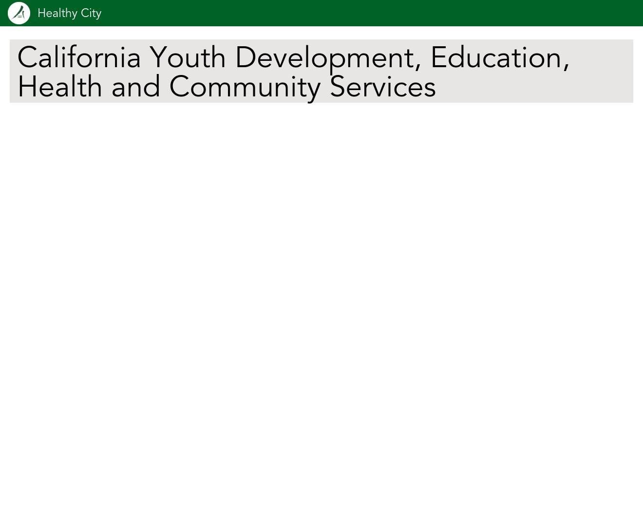 Healthy City Maps - California Youth Development, Education